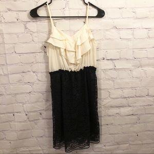 Xhilaration black lace and ruffle dress